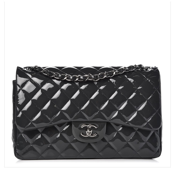 e75c5f22505764 CHANEL Bags | Quilted Patent Leather Jumbo Flap Bag | Poshmark